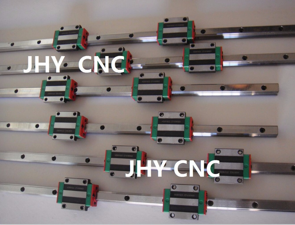 Guide rail profile Bearing Pillows Linear Actuator Parts HG15-350/500/800mm QUALITY CONTROL CNC professional manufacturer of linear actuator system axes position linear guide way linear rail