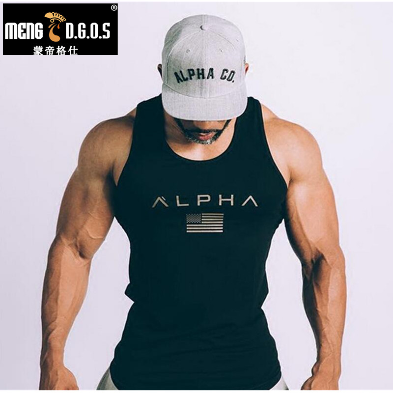 2017 Men Summer gyms Fitness Hooded Tank Top fashion mens clothing Loose breathable sleeveless shirts Vest