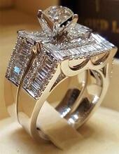Лидер продаж Женское кольцо Стразы с фианитом обручальное восемью