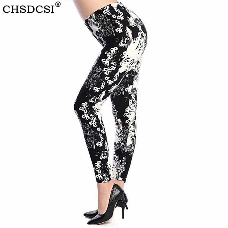 CHSDCSI Fashion Jeggings For Women Printing Leggings Push Up Pants Flower Printed High Waist Legging Sexy Gym Fitness Leggin