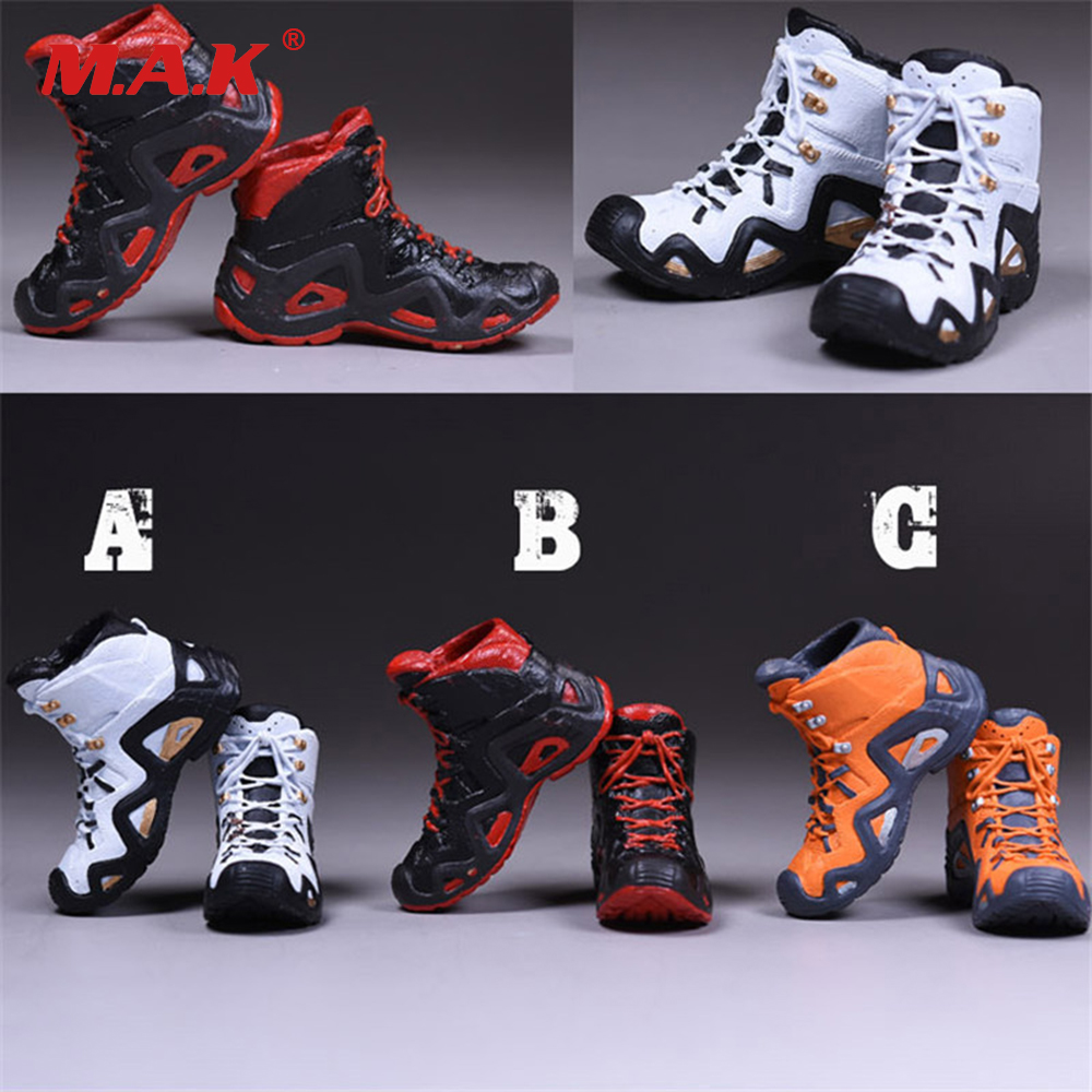 1/6 Climbing Boots Model Full Inside Male Sneakers Hiking Shoes Model For 12 Inches Male Action Figures