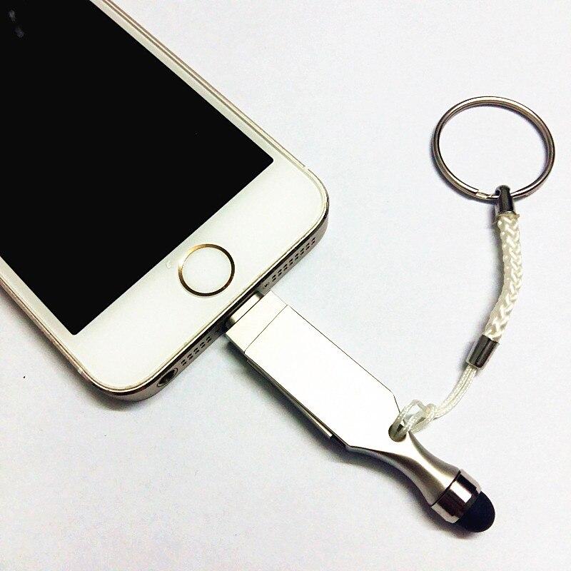 ახალი USB Flash დრაივერი HD U-disk დისკი Lightning მონაცემები iPhone / iPad / iPod, მიკრო USB ინტერფეისის ფლეშ დრაივი PC / MAC 8GB / 16GB / 32GB / 64GB