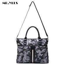 MR.YLLS Men Camouflage Handbag Fashion Business Shoulder Bag Work Laptop Messenger Bags Male Vintage Stripe Waterproof Bags