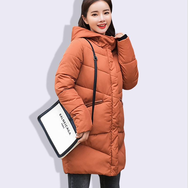 2018 New Winter Jacket Women Coats Hooded Female Parka Thick Cotton Padded Lining Winter Female Coats Ladies Outwear