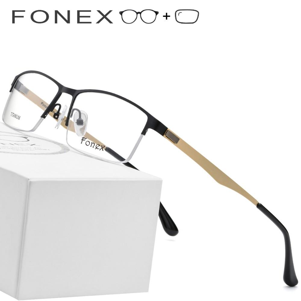 Rahmen Koreanische Neue Brillen Schraubenlose Myopie Männliche Optische 2019 Titan Platz Legierung Ultraleicht Männer WSqXgfPvw4