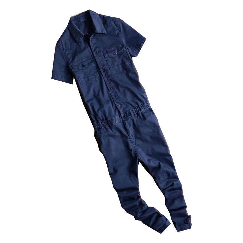 2017 Summer New Fashion Style Mens Cool Slim Short Sleeve Denim Overalls , Man Short Jeans Jumpsuits , Male Body Suit new mens colors short sleeve cotton tshirt henry kissinger quote absence