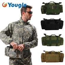 YOUGLE Army Military Tactical Outdoor Waist Day Pack Shoulder Bag Molle Camping Hiking Pouch 6L