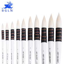1Piece Wool Hair Watercolor Paint Brush Professional Pointed Black&White Handle Painting Brushes Art Supplies 23RSG