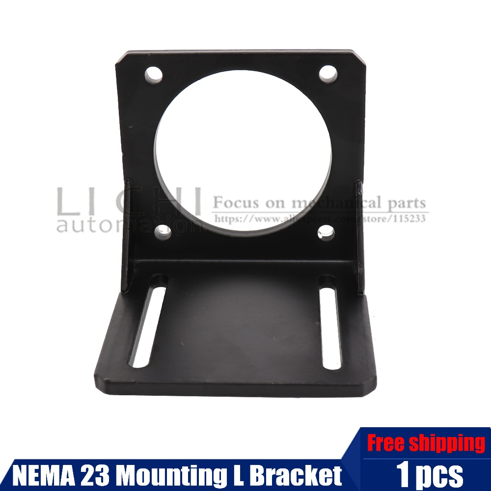Top Products 1pcs <font><b>NEMA</b></font> <font><b>23</b></font> Mounting L <font><b>Bracket</b></font> Mount Step Stepping Stepper Motor image