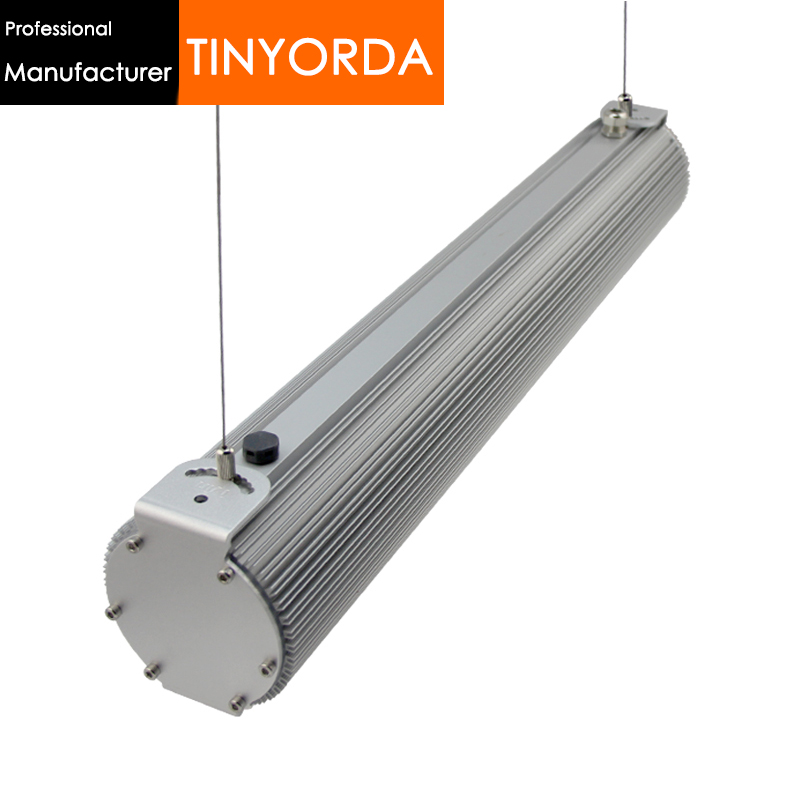 Tinyorda THD100 2Pcs (1M Length)<font><b>100W</b></font> Led Pendant Light Profile Hanging Light Low bay Light <font><b>Heatsink</b></font> [Professional Manufacturer] image