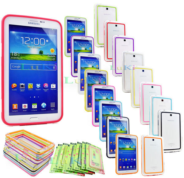 on sale 2a67f a26e9 US $5.58 |Fashion Bumper Frame Case Cover Skin For SAMSUNG Galaxy Tab 3  7.0