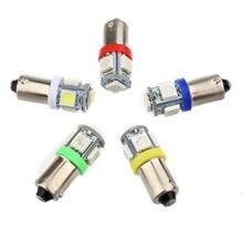 T11 T4W 5 LED 5050 SMD 233 BA9S Kappe Bajonett DC 12V Innen Dome Lesen Lampen Auto Licht sourse 12V