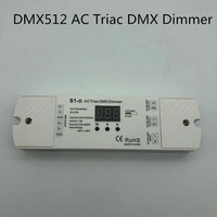 AC100 240V Triac DMX512 dimmer 2 Channel Triac DMX Dimmer, Dual channel output Silicon DMX 512 controller AC toDMX512dimmer S1 D