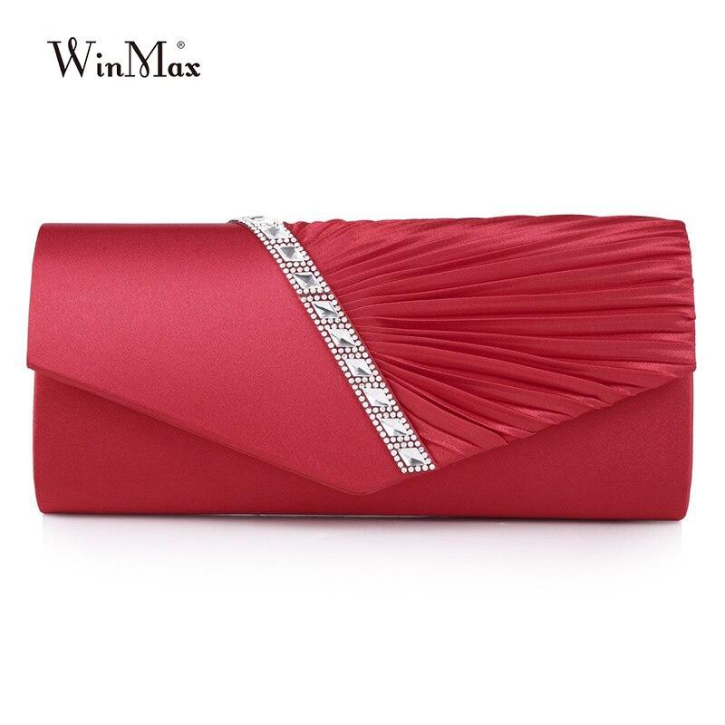 2018 New Diamond Silk Elegant Evening Bag Lady Three-dimensional Flower Satin Bridal Wedding Purse Party Messenger Clutch Blosas