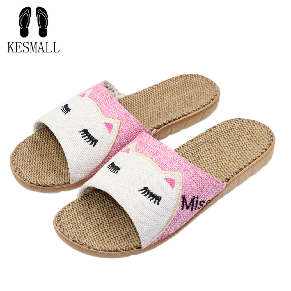 2017 Anti-slip Summer Indoor Slippers High Quality Flax Linen Home Shoes Men Women Girls Breathable Casual Floor Slippers S17 coolsa women s summer striped linen slippers women hemp slides women s flax slippers breathable non slip fashion indoor slippers