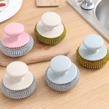 Home Handheld Cleaning Brush Washing Dishes Pot Can Kitchen Tools 7*8.5cm