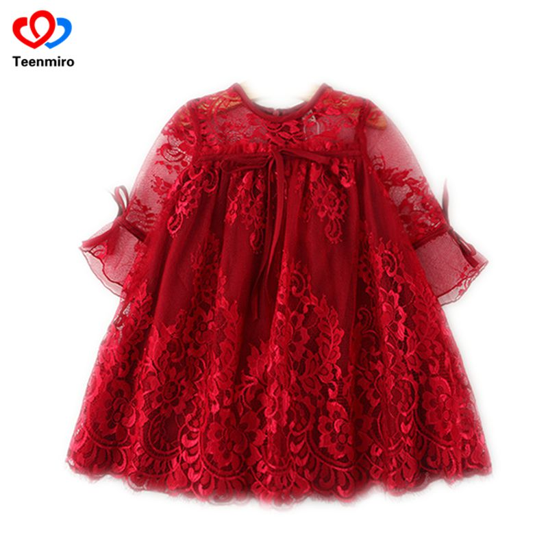 все цены на 2018 New Kids Summer Frocks Girls Dress Baby Robe Fille Toddler Princess Lace Dresses Children Robe Mariage Enfant Ball Gowns