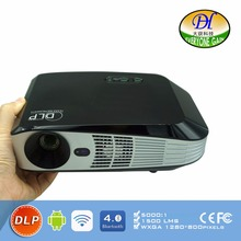 Android 3D Technology DLP Projector Led Support 1080P 4K BT 4.0 Proyector Dual WIFI Office Teaching HDMI DH-A108 Beamer