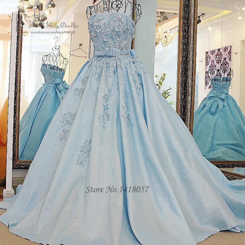 Discount Renaissance Gothic Lace Plus Size Wedding Dresses: Błękitny Suknia Ślubna Vestido De Noiva Princesa Suknie