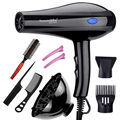 EU Plug 2000W Hot And Cold Wind Hair Dryer Blow dryer Hairdryer Styling Tools For Salons and household use with 7 Free Gifts