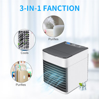 2019 New USB Mini Portable Air Conditioner Arctic Air Cooler Humidifier Purifier 7 Colors LED Light Personal Space Air Cool Fan