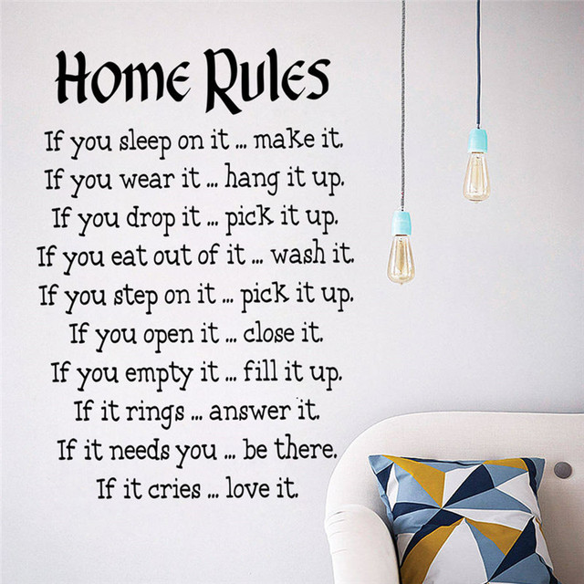 House Rules Wall Sticker Quotes Home Decoration