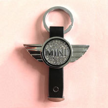 fashion Keychain diamond Zinc Alloy Key Chain Car Key Ring Metal fashion for mini for BMW MINI Cooper S ONE Roadster Clubman(China)