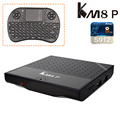 KM8 P Android 6.0 TV Box Amlogic S912 64 bits Octa core 1 GB/8 GB Smart Tv Caja WiFi UHD 4 K 2 K 100 M LAN HDMI 2.0 Con I8 teclado