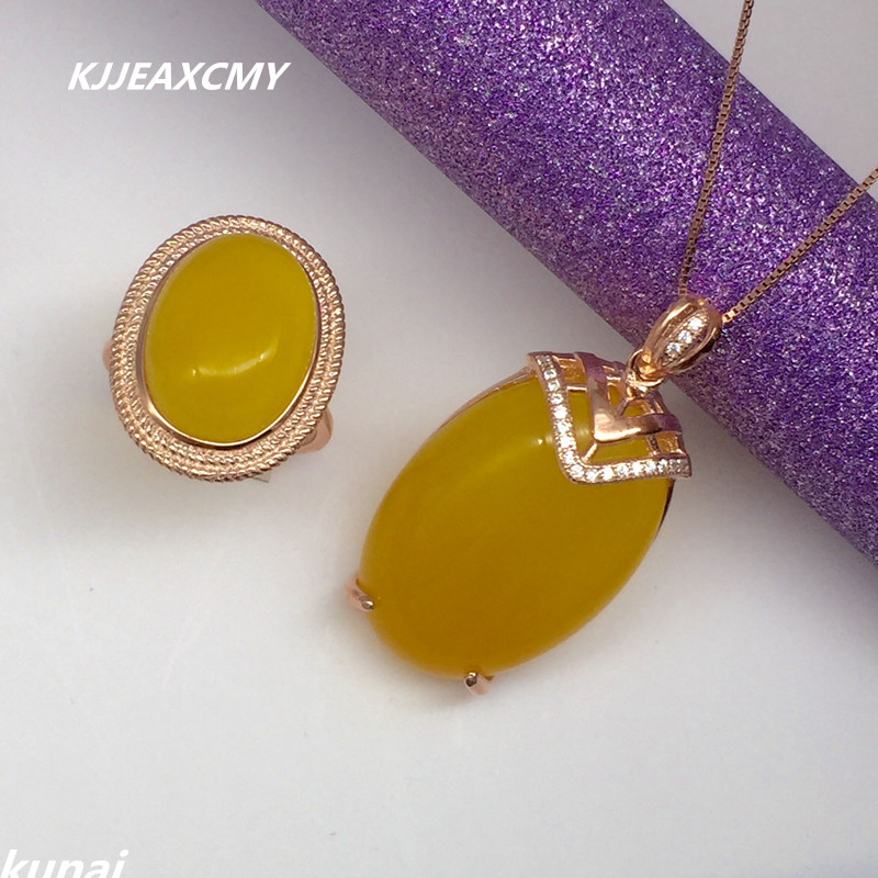 KJJEAXCMY Boutique bijoux chrysanthème naturel ensemble incrusté bijoux ensemble en gros 925 argent bijoux en argent
