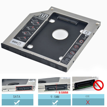SATA 3.0 to SATA Case SSD HDD 2nd Caddy 9.5mm 2.5″ Second Hard Disk Driver External Enclosure CD DVD Optical Bay Laptop