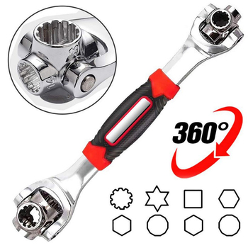 48-in-1 multi-function socket wrench double-head Tool 360 degree rotary wrench 8-19mm Torx sleeve For Furniture Car Repair tiger wrench 48 in 1