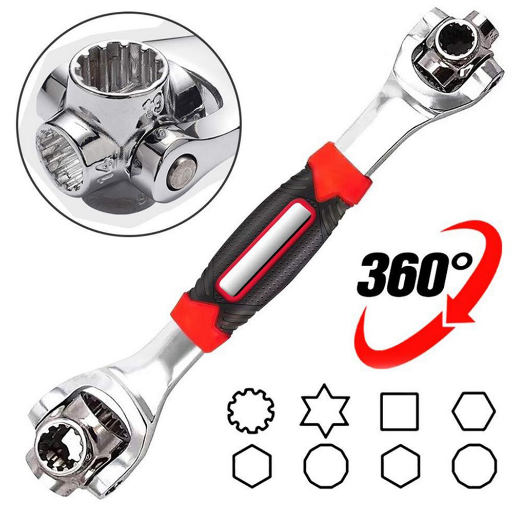48-in-1 multi-function socket wrench double-head Tool 360 degree rotary wrench 8-19mm Torx sleeve For Furniture Car Repair универсальный ключ 48 в 1 universal tiger wrench