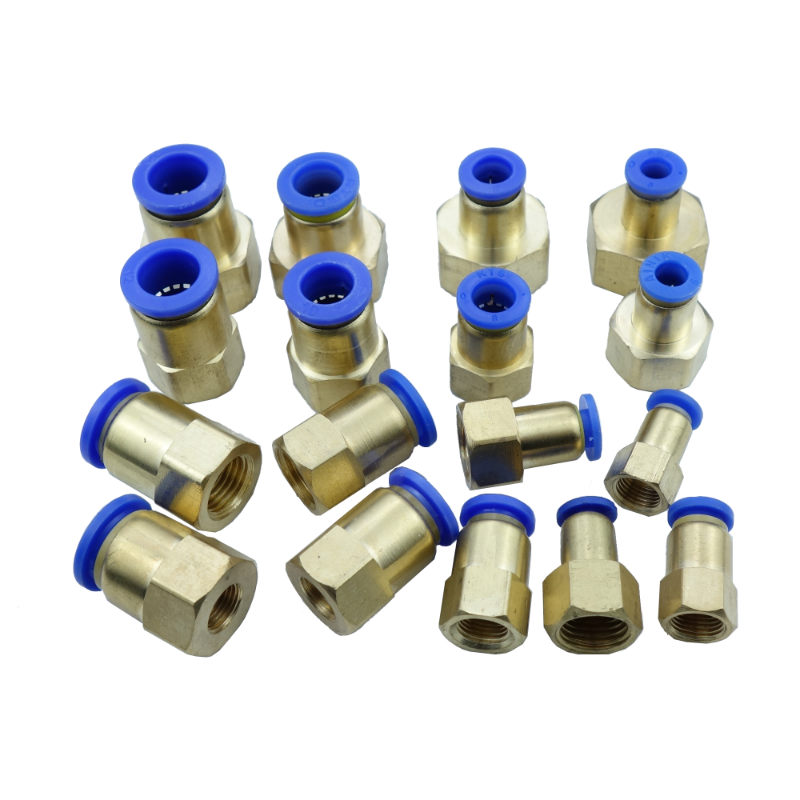 4mm/6mm/8mm/10mm/12mm OD * 1/8/1/4/ 3/8/ 1/2 bspp Pneumatic Air Push In Quick Fitting Straight Female Connector air pneumatic straight bulkhead union 10mm 8mm 6mm 4mm 12mm od hose tube one touch push into gas connector brass quick fitting
