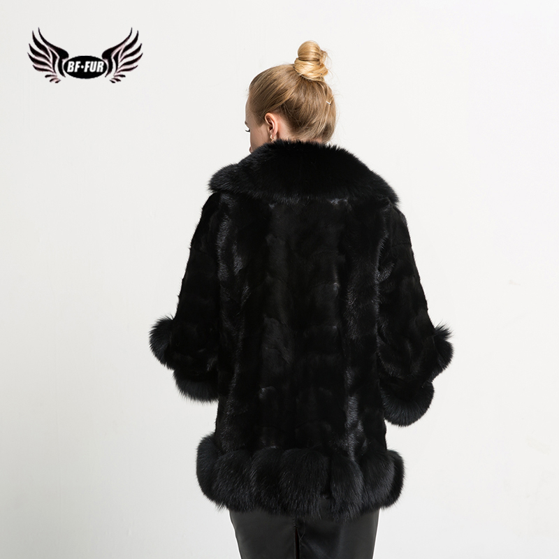 BFFUR Mink Knitted Mink Jacket Real Mink Coat Real Fur Coat 2017 ...
