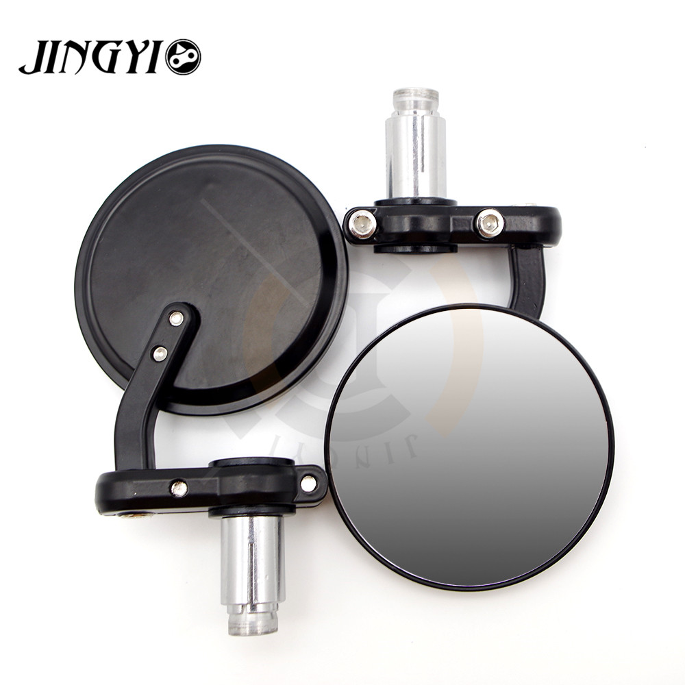 Universal 22mm motorcycle Handle bar mirror rearview CNC Motorbike Side Mirrors Retro FOR Royal Enfield Cafe Racer Bobber Black