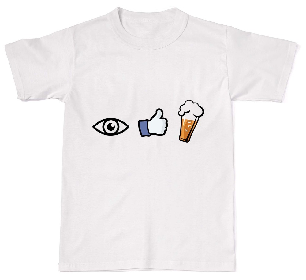 2019 New Brand Cheap Sale I Like Beer Funny Alcohol Booze Humour Dad Cotton T Shirt T-Shirt image