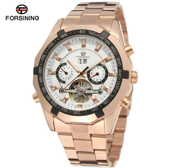где купить Men Steel Automatic Skeleton Self-wind Business Mechanical Watches Gift Wrist Watch Clock reloj hombre heren horloge Hours по лучшей цене