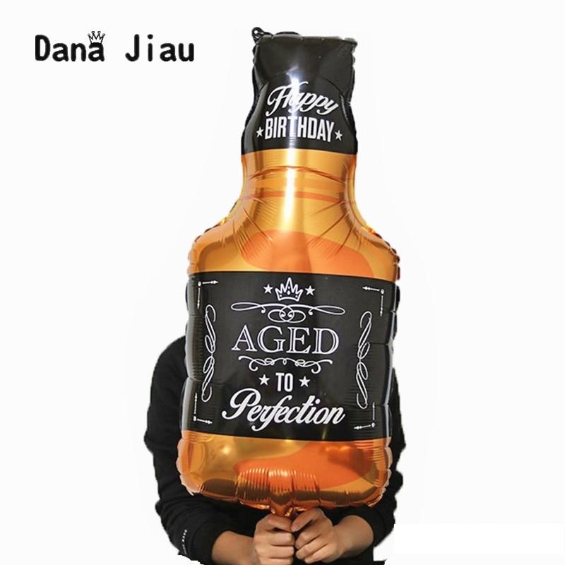 Dana jiau 1 pcs 91*46 cm de Uísque Garrafa de vinho 30 anos Feliz Festa de Aniversário Decoração Balão Com Idades Compreendidas Entre tema de férias à Perfeição