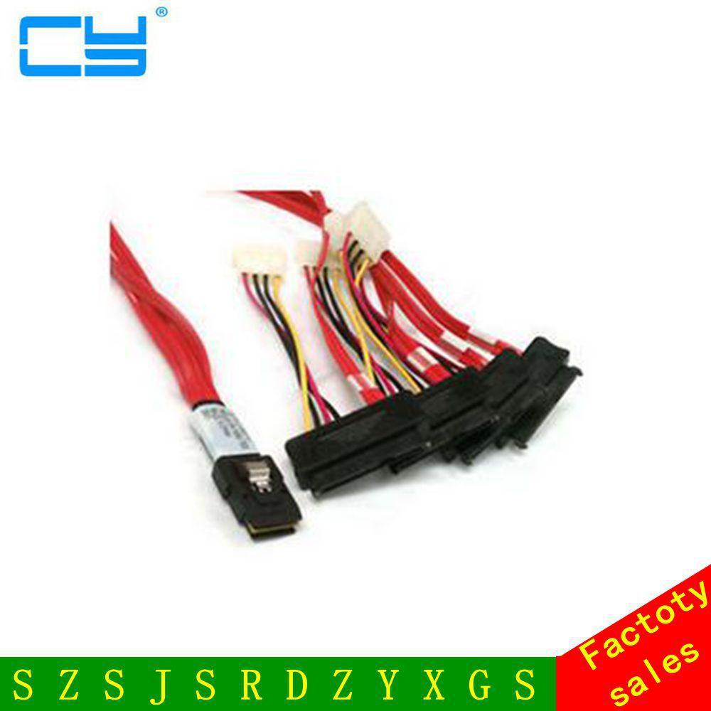LSI / 3Ware Molex Mini SAS Cable SFF-8087 to SFF-8482 Power x 4 SAS sas array card lsi 3ware 9690sa 4i8i amcc 9690sa