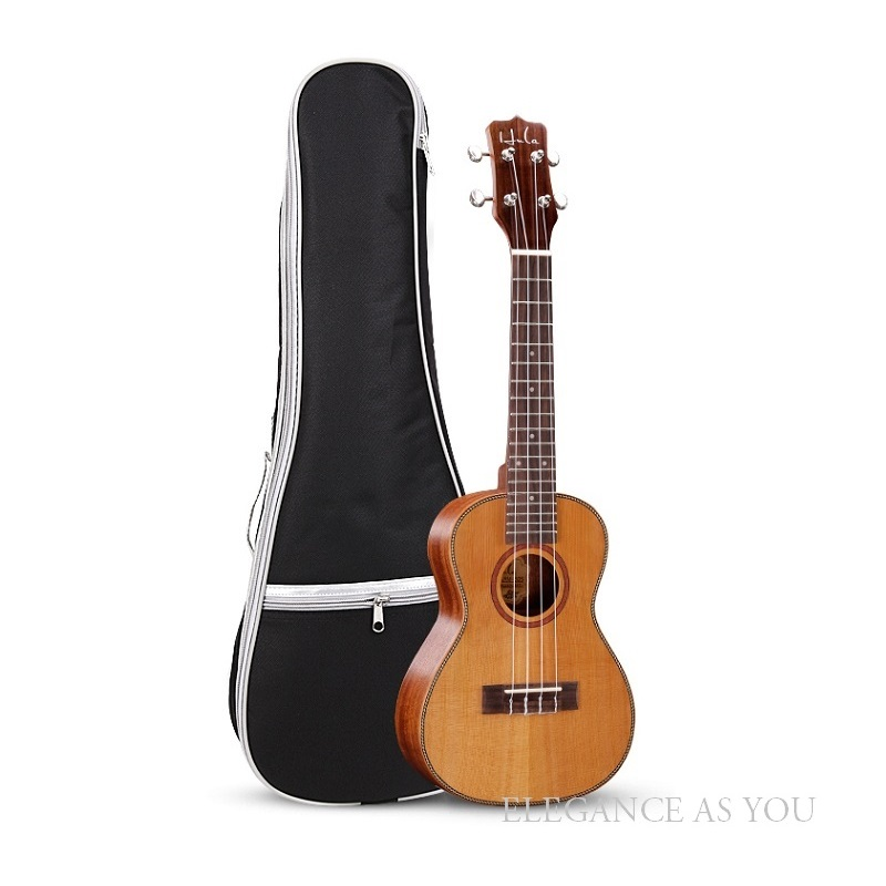Free shipping shoulder 21 23 26inch Ukulele bag travel Ukulele small guitar bag simple style 4-string guitar case Ukulele cover free shipping ukulele 21 23 26 inch cotton bag thickening guitar small newspaper design package