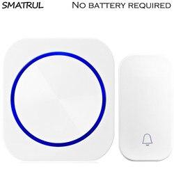 SMATRUL автономным питанием водостойкий беспроводной дверной звонок светодиодный свет без батарея разъем ЕС домашний дверной звонок 1 Кнопка 1...