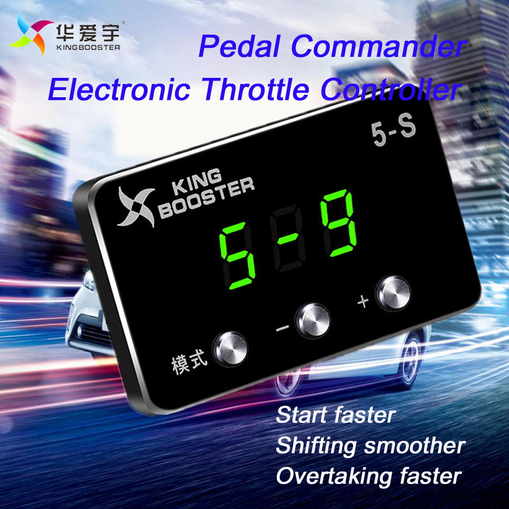цена на KINGBOOSTER 5 Mode Car Pedal Commander Electronic Throttle Controller Accelerator For dacia duster 2010+