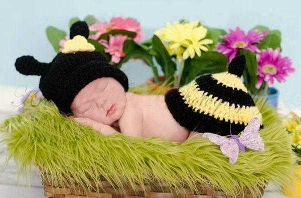 Abeja Animal bebé recién nacido príncipe infantil niñas niños disfraz gorro  foto fotografía atrezzo ganchillo juegos de ropa de punto capsula los  sombreros ... bfc77bc28a8
