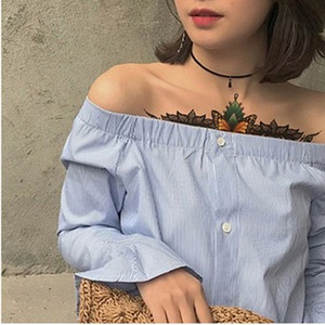 Image 5 - Thiết kế mới Ngực Flash Tattoo Hoa Hồng lớn hoa chuồn chuồn vai cánh tay Xương Ức hình xăm Henna cơ thể/lưng sơn Dưới ngực đầu lâu
