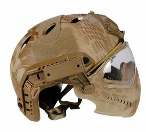Image 4 - Tactical helmet with Mask Military Airsoft Army WarGame Motorcycle Cycling Hunting Riding Outdoor Activities