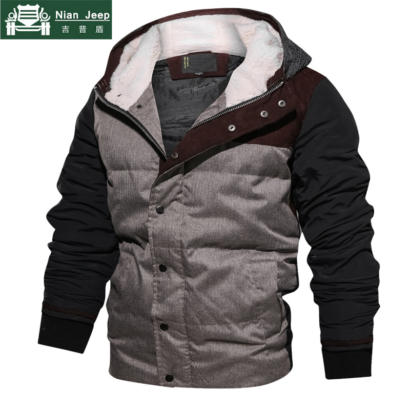 Brand Winter Parka Men Casual Hooded Patchwork Cotton Padding Parka Men Clothing Winter  ...