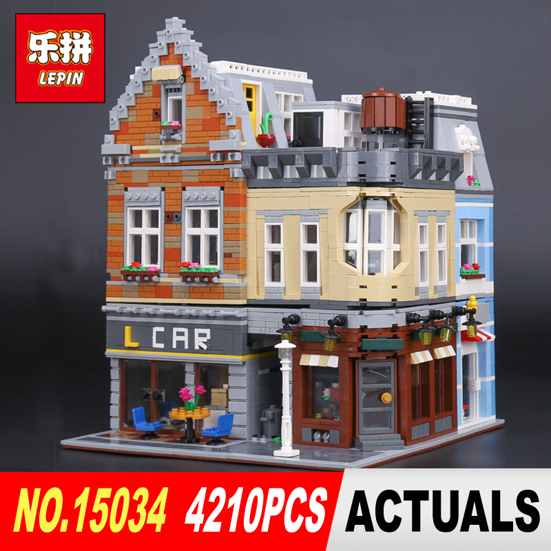 Lepin 15034 4210Pcs Genuine MOC Series Building Blocks Bricks Educational Toys The New Building City Set Model Gifts садовый совок truper ggtl tr 15034