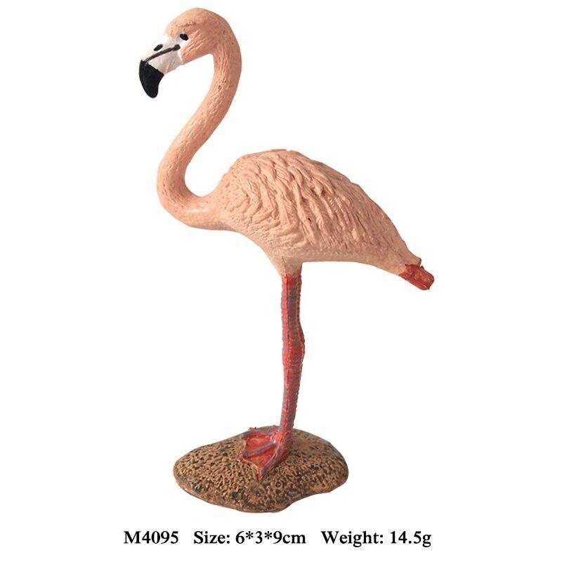 Modelo animal mini simulación animal juguete Parrot Flamingo búho ...