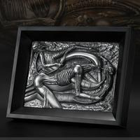 OGRM Crafts Wall Hanger H.R.Giger Alien queen Wall Hanging Boutique Wall Art Resin Photo Frame Cast Aluminum