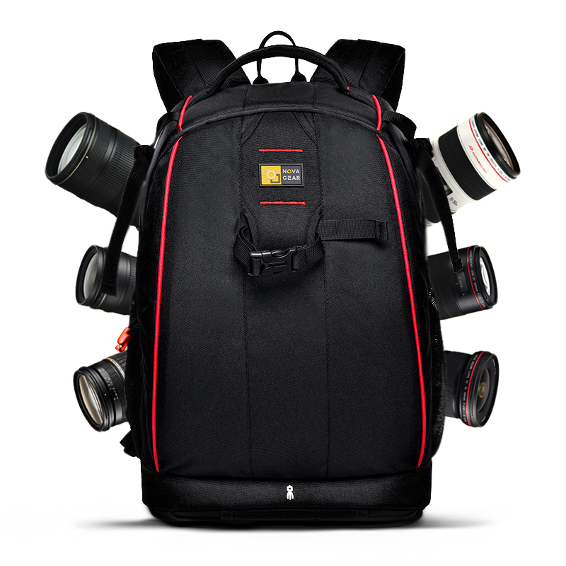 wholesale free shipping  NOVAGEAR 80404 big one Professional digital camera bag slr anti theft  camera backpack fashion-in Camera/Video Bags from Consumer Electronics    1
